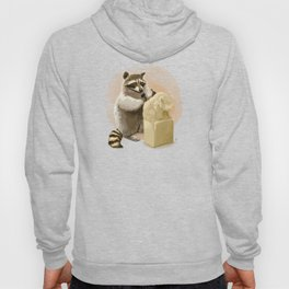 Raccoon in Pursuit of Perfection Hoody
