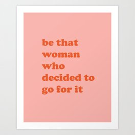 Female Empowerment Entrepreneur Quote Art Print