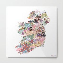Ireland map Metal Print