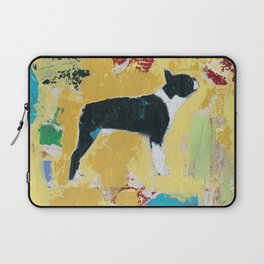 Boston Terrier Painting Art Laptop Sleeve