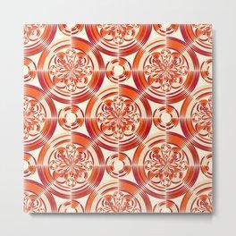 Dark orange pattern Metal Print