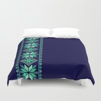 nordic Duvet Covers featuring NORDIC by Oksana Smith