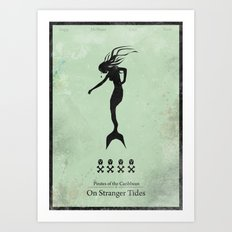 Pirates of the Caribbean 4 - On Stranger Tides - minimal poster Art Print