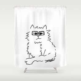How Do You Like Meow Hipster Kitten Shower Curtain