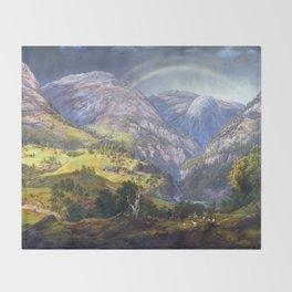 Johan Christian Claussen Dahl View from Stalheim Throw Blanket