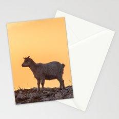Goat baby sunset E5-5789 Stationery Cards