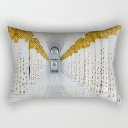 Down the golden white Rectangular Pillow