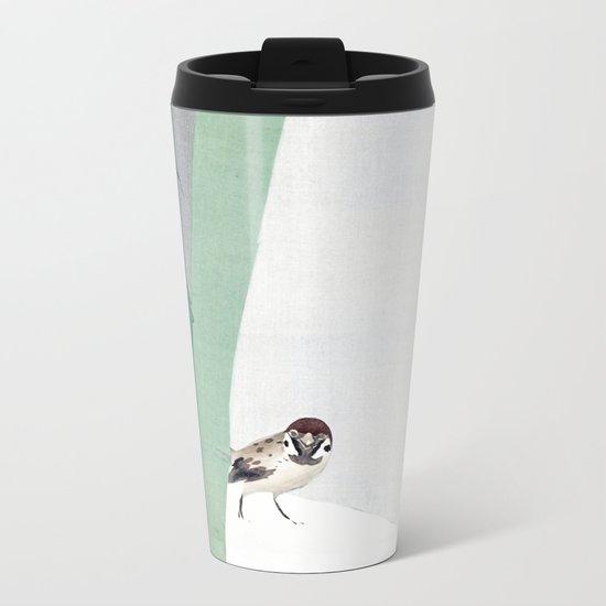 Bamboo in snow Metal Travel Mug