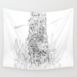 Prince Rupert's Shoe Tree Wall Tapestry