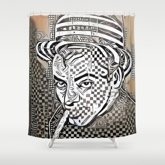 Roland Topor Abstract Shower Curtain by alexzondro