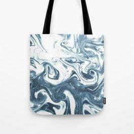 Marble swirl suminagashi minimal ocean waves watercolor ink marbled japanese art Tote Bag