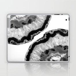 Gray Black White Agate Finesse #1 #gem #decor #art #society6 Laptop & iPad Skin
