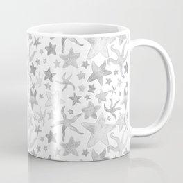 Grey Starfish Pattern - Light Coffee Mug