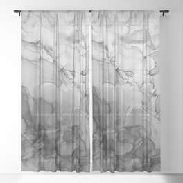 Harmony in Black and White Sheer Curtain