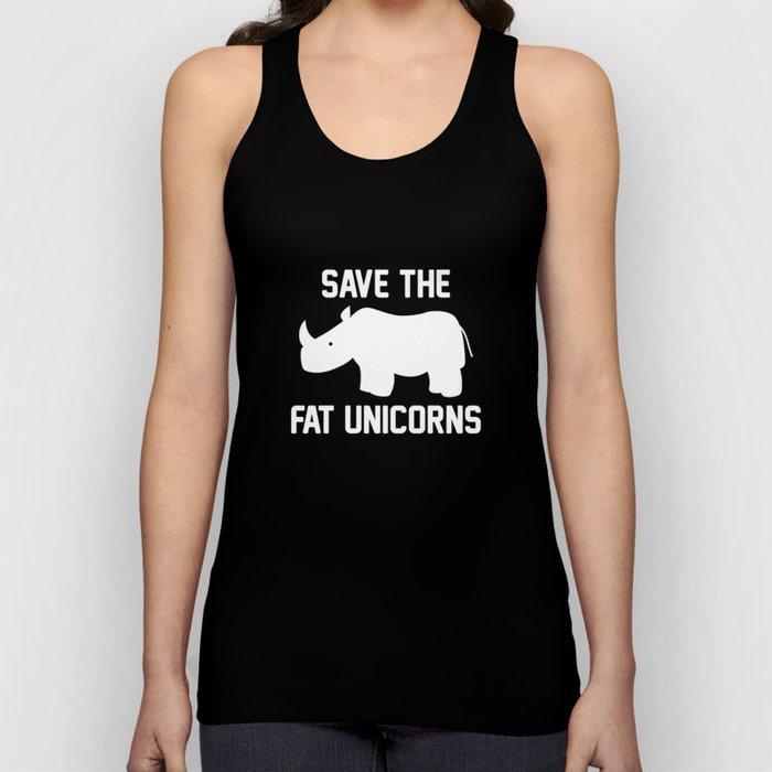 Save The Fat Unicorns Unisex Tank Top