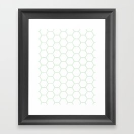 Honeycomb Mint Green #192 Framed Art Print