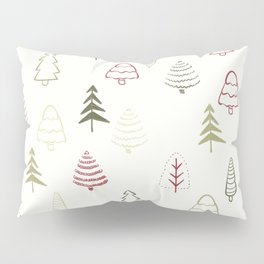 Winter Trees in Snowy Day Pillow Sham