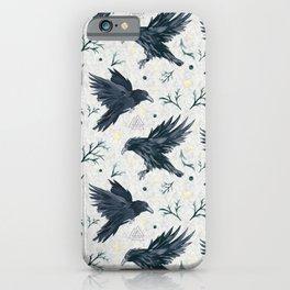 Odin's Ravens Pattern Print iPhone Case