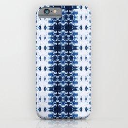 Blue Kumo Ikat Stripe iPhone Case