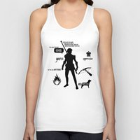 dragon age inquisition Tank Tops featuring Dragon Age - Fenris by firlachiel