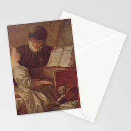 Jean-Honore Fragonard - The Music Lesson Stationery Cards