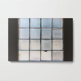Glass Block Window Metal Print