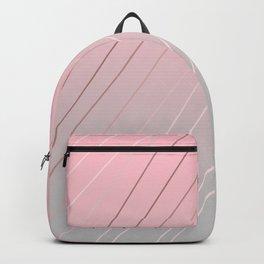 Elegant rose gold, pink - grey gradient Backpack