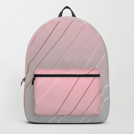 Elegant rose gold, pink - grey gradient Backpack