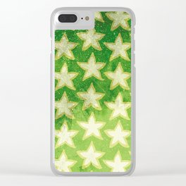 Star Fruit Paint pattern Clear iPhone Case