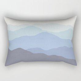 Abstract, Blue, Landscape, Scandinavian, Modern art, Art, Minimal, Wall art Print Rectangular Pillow