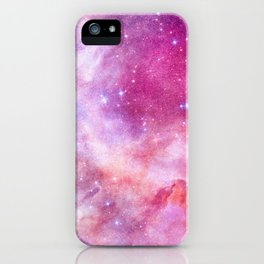 Blush Pink and Ultra Violet Celestial Galaxy iPhone Case