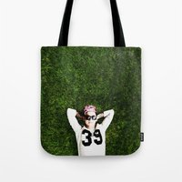niall horan Tote Bags featuring Niall Horan by Becca / But-Like-How