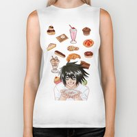 death note Biker Tanks featuring L from Death Note by Naineuh