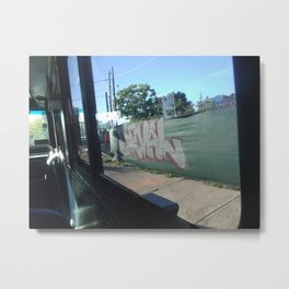 Bus Ride Graffiti Metal Print