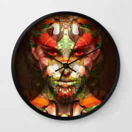 art abstract protrait Wall Clock