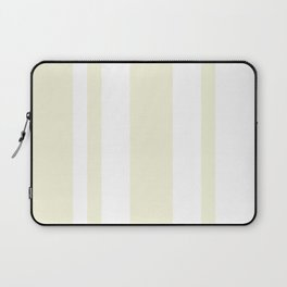 Mixed Vertical Stripes - White and Beige Laptop Sleeve