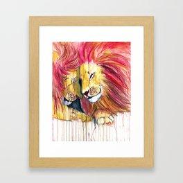 Twin Lions Framed Art Print