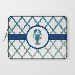 Lobster: Tropical Water Moroccan Pattern Laptop Sleeve