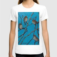converse T-shirts featuring Sparrows Converse by Suzy Kitman Fine Art