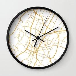 AUSTIN TEXAS CITY STREET MAP ART Wall Clock