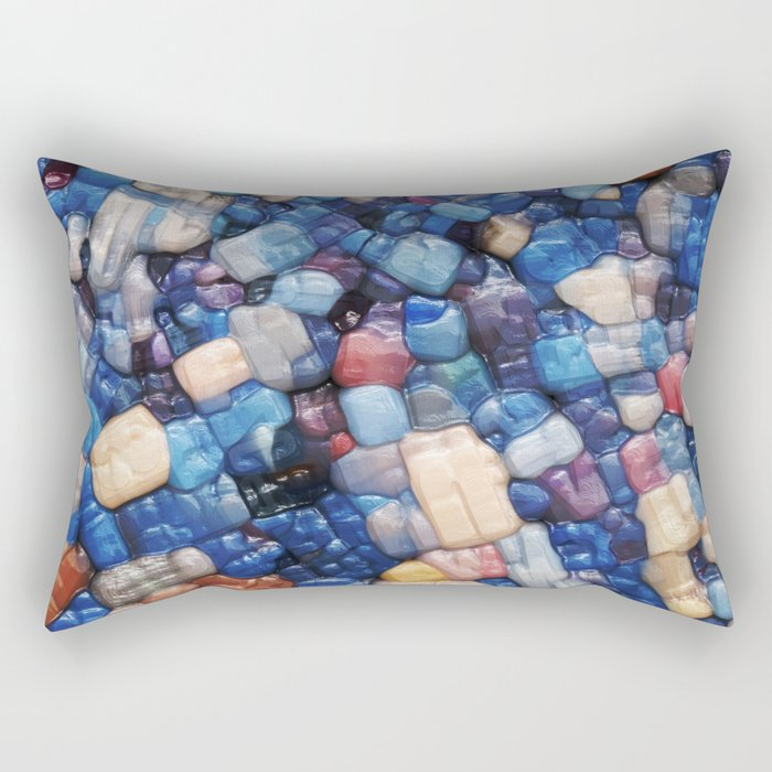 Alphanumeric Typeface Abstract Rectangular Pillow