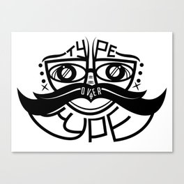 The Mustache Appeal  Canvas Print