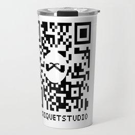 QR Bitmap. Travel Mug