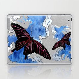 Butterfly II ink by carographic, Carolyn Mielke Laptop & iPad Skin