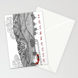 Sugarbush Vermont Serious Fun for Skiers- Zentangle Illustration Stationery Cards