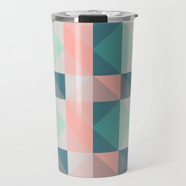 Seafoam Plaid Travel Mug