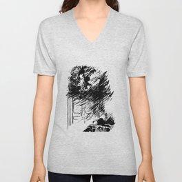 Edouard Manet - The raven by Poe 3 Unisex V-Neck