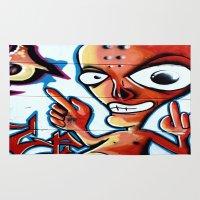 graffiti Area & Throw Rugs featuring Graffiti by Fine2art