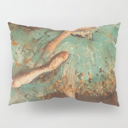The Green Dancer 1879 By Edgar Degas | Reproduction | Famous French Painter Pillow Sham