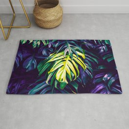 Purple paradisiacal jungle Rug